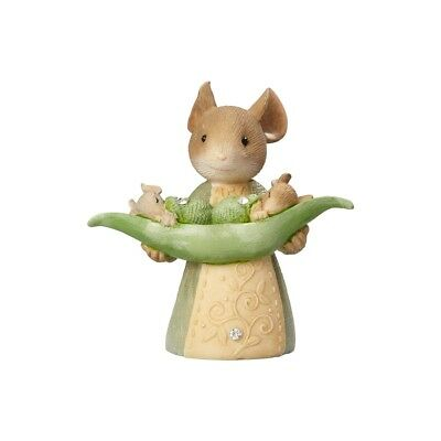 Enesco Heart of Christmas Tails With Heart Mouse With Peapod $50=FreeShipUS