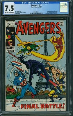 Avengers #71 CGC 7.5 OW/WH (1st app of the Invaders)