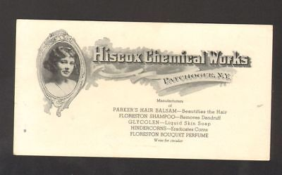 Undated Used Advertising Ink Blotter Hiscox Chemical Works Patchogue New York NY