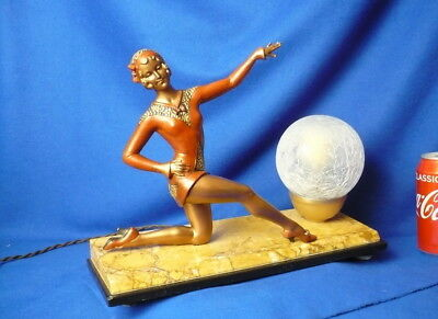 Sega 1920 Art Deco Girl In A Red Suit Sculptures  Vintage Collectible Rare