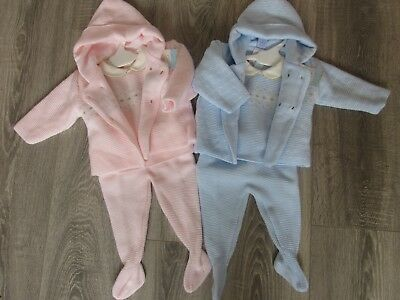 VB Spanish baby Boys and girls knitted 3 piece suit