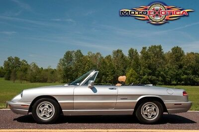 1991 Alfa Romeo Spider Convertible Series 4 1991 Alfa Romeo Spider Convertible Series 4