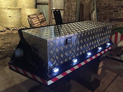 tractor bale bumper with intergrated tool box