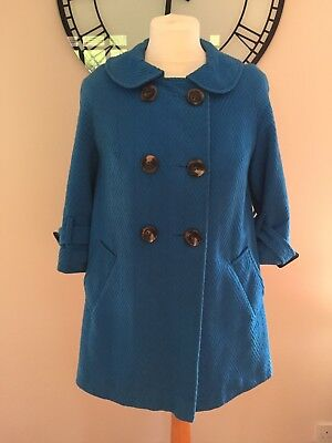Autumn Swing/maternity Jacket From Topshop, Size 8, Blue