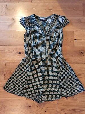 Vintage Style Short Jumpsuit/playsuit, River Island, Size 6, Xmas Bottle Green