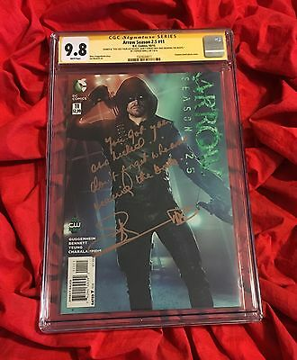 Cgc Ss 9.8~Arrow Season 2.5 #11~Signed & Inscribed By Stephen Amell~Cw Tv Show