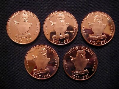 2017 Trump The Chicken President Copper Round Coin(5 Coins)