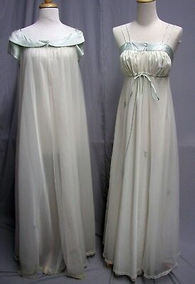 #17232, Beautiful 1950's Nightgown & Robe Lingerie Set Lucie Ann