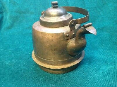 Vintage/ Antique/ Old Copper tea kettle, Hand Forged, W/ Lid & Covered Spout