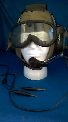 Vintage style David Clark tested and working  Aviation Headset H10-30/with cap