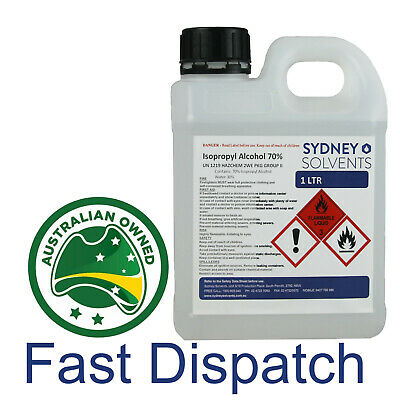 IsoPropyl Alcohol 70% 70 Rubbing Alcohol All Purpose Cleaner Isopropanol 1 Litre