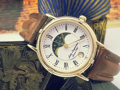 Vintage (Mint) Jules Jurgensen Moonphase Ref#6851 Pmkn-Crwn Orig.band Mens Watch