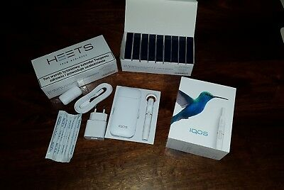 IQOS KIT 2 4 2017 version+ HEETS BLUE LABEL HEAT ING SYSTEM 19 PACKS - 380