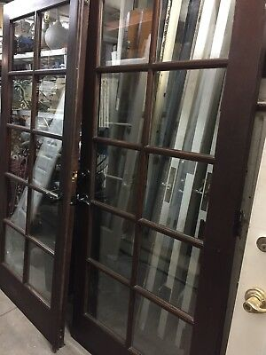 "French Doors Double Pane Glass 79 -1/2 X 36"" Ea 72"" Open"