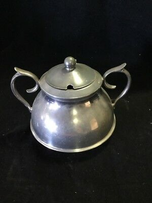 Silverplated Sugar Bowl Pot Silver Plated Vintage Antique Superior Plate
