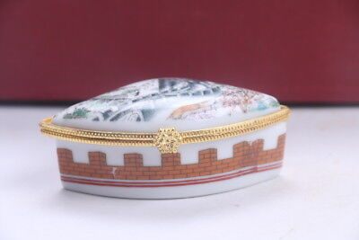 Exquisite Chinese paintings The Great Wall porcelain jewelry boxes ad788