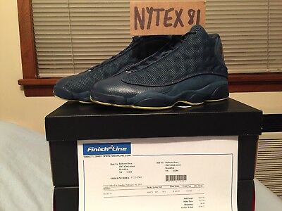 83fe2d3e135d Nike Air Jordan 13 Xiii Retro Squadron Blue Yellow Black 10.5 Ds 2013  414571 405