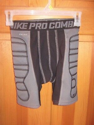 Youth Size Med Black w/Grey Athletic Nike Pro Combat Dri Fit Compression Short