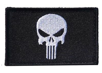 Punisher Patch Embroidered 80mm x 50mm  - New