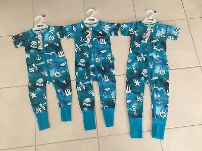 SAILOR DREAM 1,2,3 BNWT Anchor BONDS Zippy Wondersuits RARE