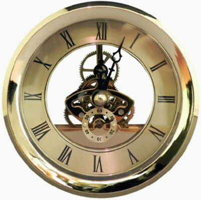 "Quartz Skeleton Fit Up Insert Clock Mechanism Size 4-1/16"" Diameter"