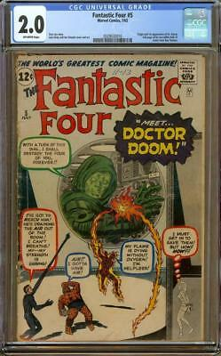 Fantastic Four #5 CGC 2.0 OW Pages - Origin And 1st Appearance Of Dr. Doom