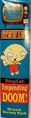The Family Guy Stewie's Scent Of Doom Incense 20 Sticks Variety Pack