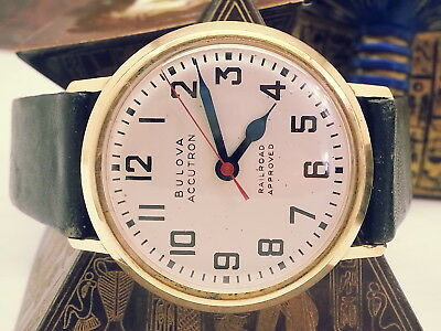Vintage (Near-Mint) Railroad-Approved Accutron Tuning-Fork 10K Gf Bez Mens Watch