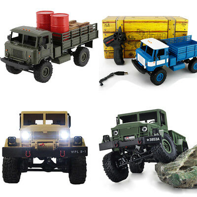1:16 RC Crawler Military Truck Off Road Rock Car 4WD RTR 2.4G Remote Control Toy