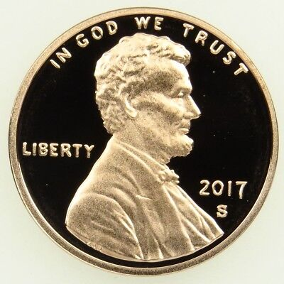 2017 S Deep Cameo Proof Lincoln Shield Cent Penny (B05)