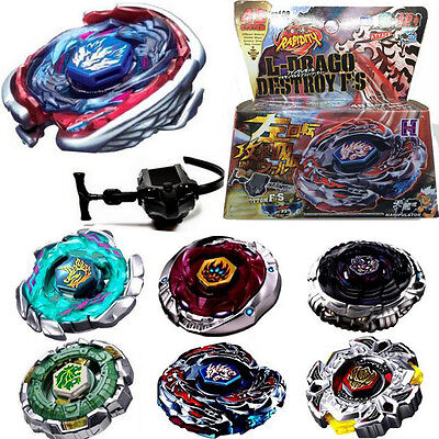 Fusion Top Rapidity Fight Metal Master Beyblade 4D Launcher Grip Set Collecti``'