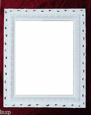 Wall Mirror 43x36 Baroque Rectangular White Repro Picture Frame Arabesco 4