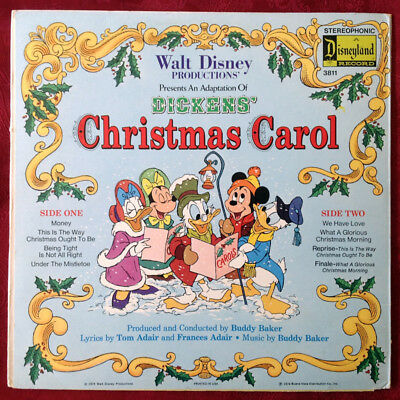 An Adaptation Of Dickens' Christmas Carol Walt Disney Players LP Book & Record