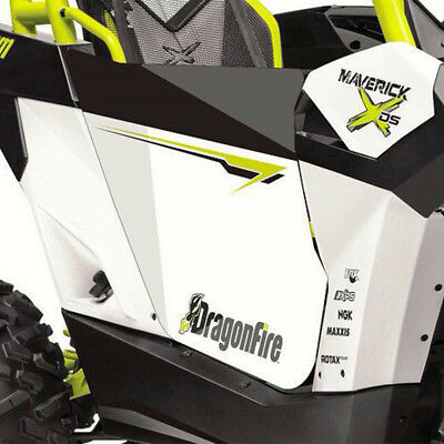 DragonFire HiBoy Door Graphics Can-Am Maverick XDS Turbo 2015-2017 White/Manta