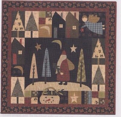 Santa Claus Lane - applique & pieced Christmas wall quilt PATTERN - Jan Patek
