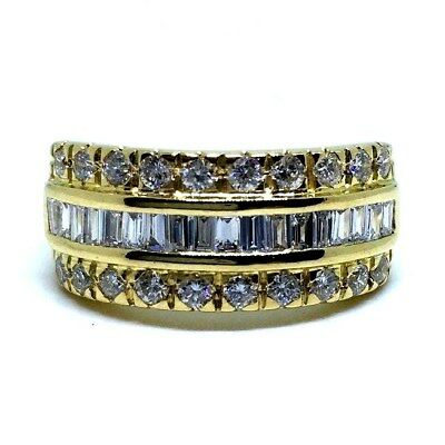 18Ct Yellow Gold Diamond Set Ladies Dress Ring 6.12 Grams