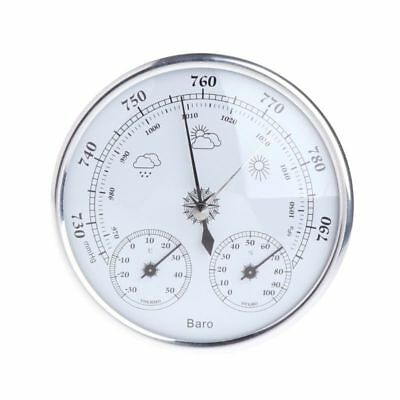 130mm Wall Hanging Weather Station Barometer Thermometer Hygrometer 970~1040hPa