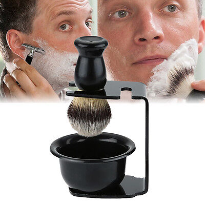 Men's Shaving  Shaving Brush Bowl Mug Brushes Holder Stand Barber  ...NEW