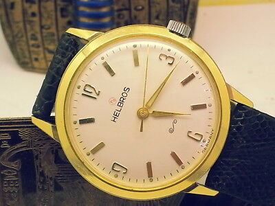 Vintage Special Germany-Made Helbros (Near-Mint) Yellow Ring-Seal Mens Watch
