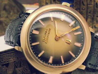 Vintage Super-Rare 1973 Bulova Accutron(Near-Mint)2Tone Rootbeer Dial Mens Watch