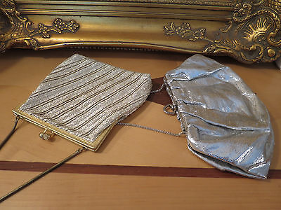 Vintage Hand Bags, 1950's, Princess Made In Germany Gold, & One Silver