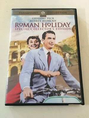 Roman Holiday (DVD, 2002, Collectors Edition) Gregory Peck, Audrey Hepburn 1953