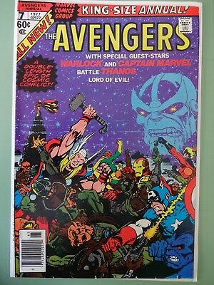 THE AVENGERS King Size Annual No. 7 1977 (Very Fine)