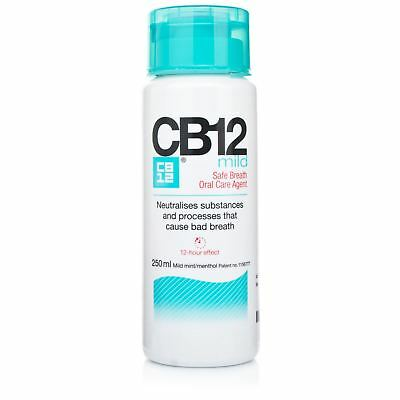 CB12 Mild Mint-Menthol Mouthwash 250ml 1 2 3 6 12 Packs
