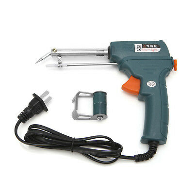 Electric Temperature Iron Soldering Gun With Auto Solder Feed Reel 60W +UK Plug