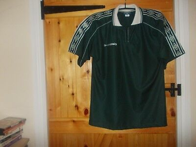 Retro 1990's Green&white Sports Shirt By Umbro Size Medium - New Without Tags