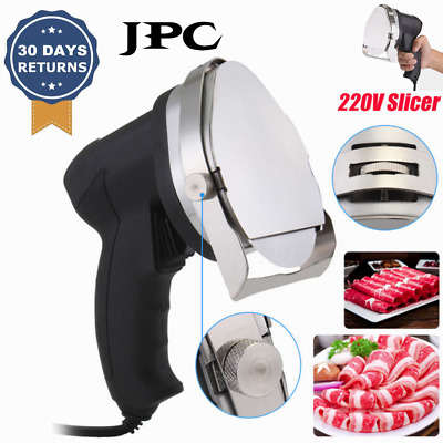100W Electric Meat Stainless Steel Slicer Cheese Food Cutter Kitchen Black