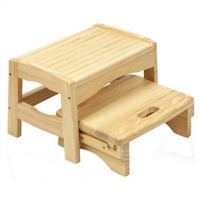 Safety 1st Wooden Two Step Stool 18m - 4 years Toddler Safety NEW