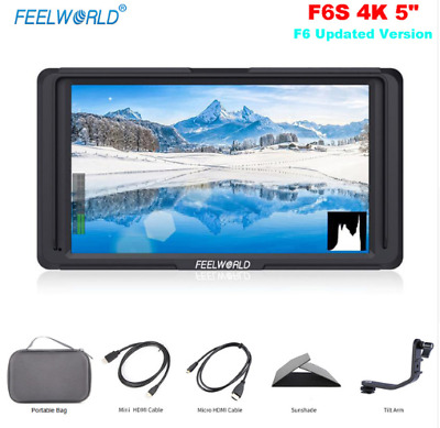 "Feelworld F6S 5"" Full HD IPS On Camera Field Video Monitor for DSLR+ Batteries"
