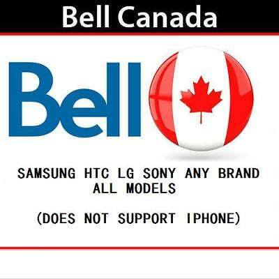 EXPRESS Factory Unlock Canada Bell Virgin Samsung LG HTC SONY etc. all models